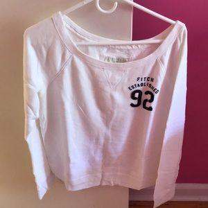 Abercrombie white crewneck sweater